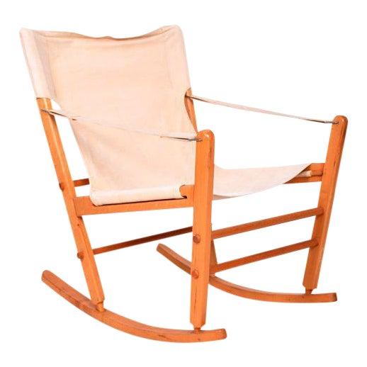 Mid-Century Modern Safari Chair Rocker For Sale