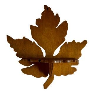Vintage Handmade Maple Leaf Wooden Shelf For Sale