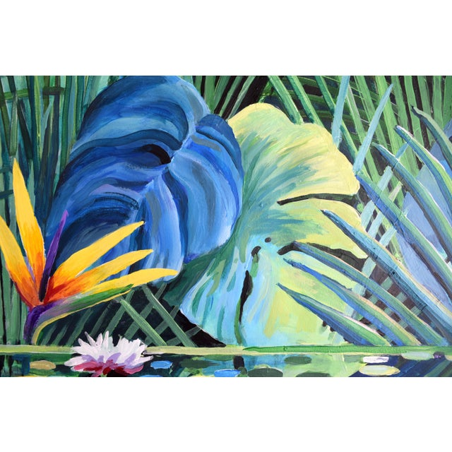 "Acrylic Paint ""Reflection"" Tropical Acrylic Painting For Sale - Image 7 of 10"
