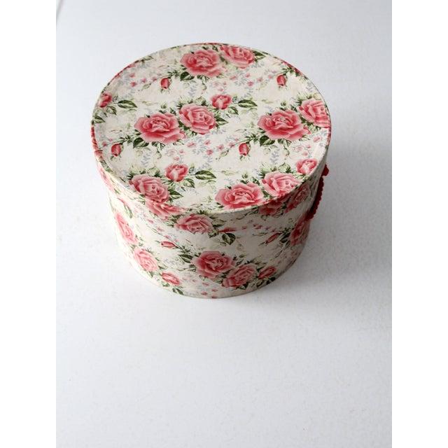 Vintage Floral Hat Box - Image 6 of 8