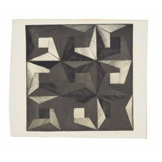 1972 Michiko Itatani Black & White Geometric Etching Preview