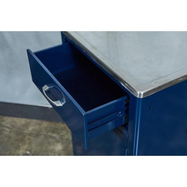 Blue FPI Industry 1964 Metal Cabinet For Sale - Image 4 of 6