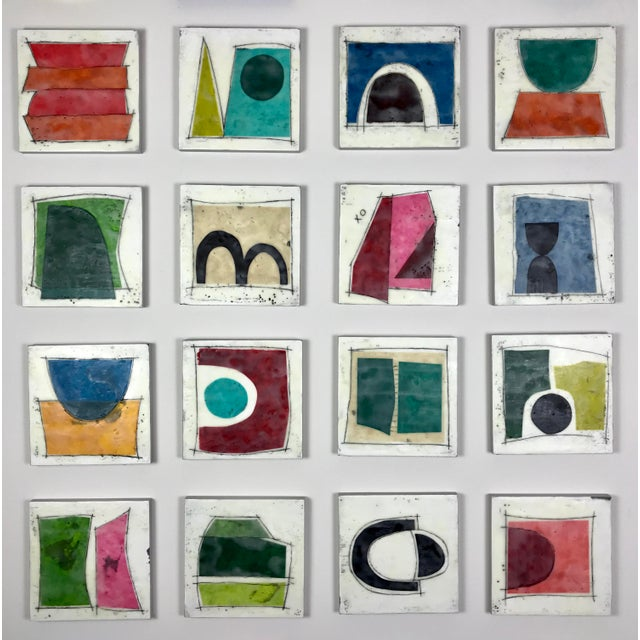 """Gina Cochran """"Road Trip"""" Encaustic Collages - 16 Pieces For Sale - Image 13 of 13"""