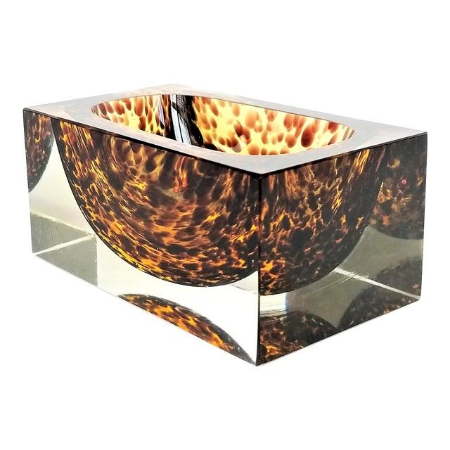 Exquisite Murano Glass Tortoiseshell Bowl by Alessandro Mandruzzato For Sale