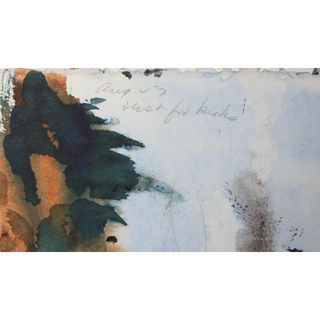 Contemporary Eve Nethercott, West Hampton (P3.32), Watercolor on Paper (Double-Sided) For Sale - Image 3 of 4