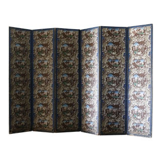 Late 19th Century French Wallpaper Screens - A Pair For Sale