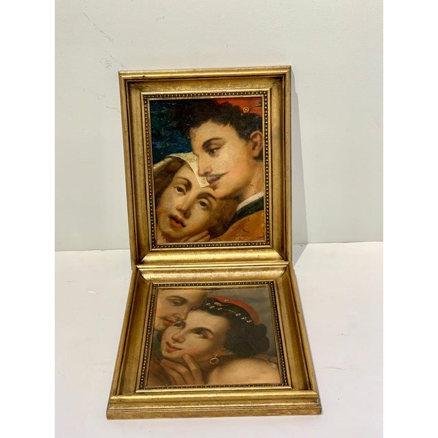 Traditional Near Pair of Old Master Romantic Portraits For Sale - Image 3 of 10