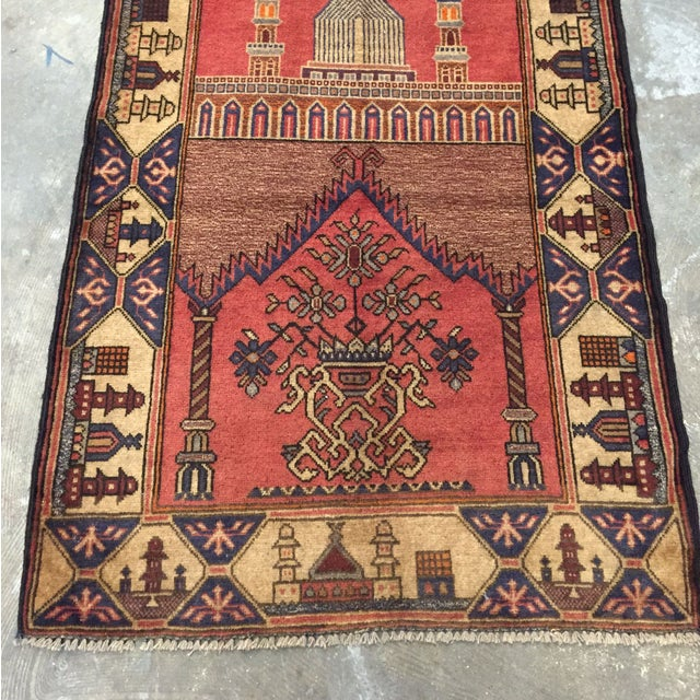 "Vintage Persian Rug - 2'10"" x 4'8"" - Image 3 of 8"