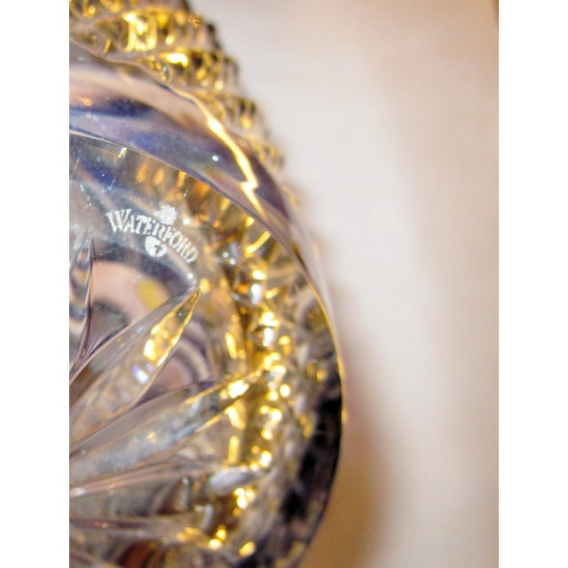 Vintage Waterford Clarendon Cobalt Blue Cut to Clear Cased Crystal Ice Bucket For Sale - Image 9 of 11