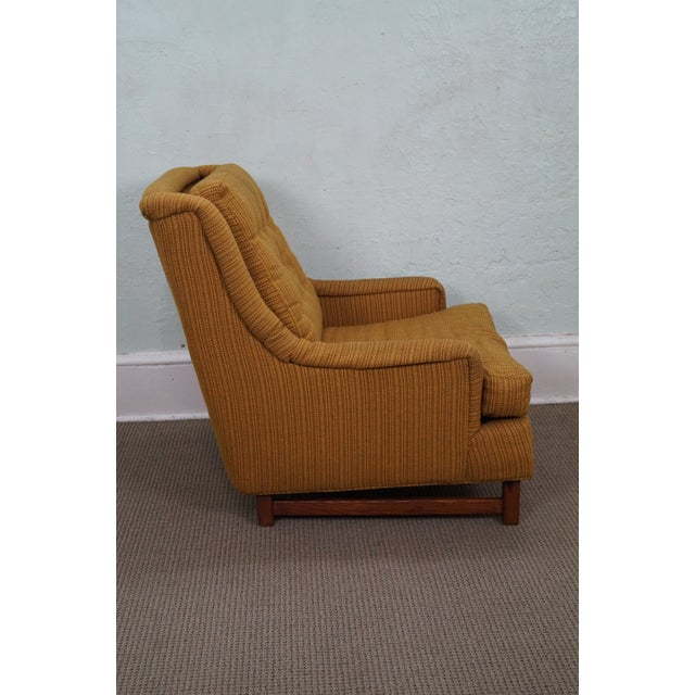 Mid-Century Walnut Frame Lounge Chair And Ottoman - Image 3 of 10