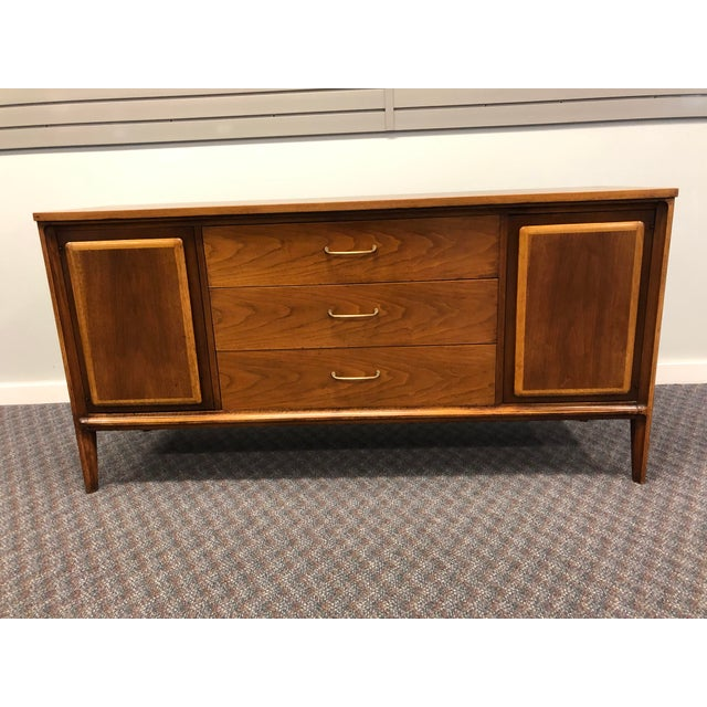 Vintage Mid Century Modern Walnut Credenza - Forward by Broyhill For Sale - Image 13 of 13