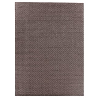 Exquisite Rugs Sutton Hand loom Wool Flint Rug-6'x9' For Sale