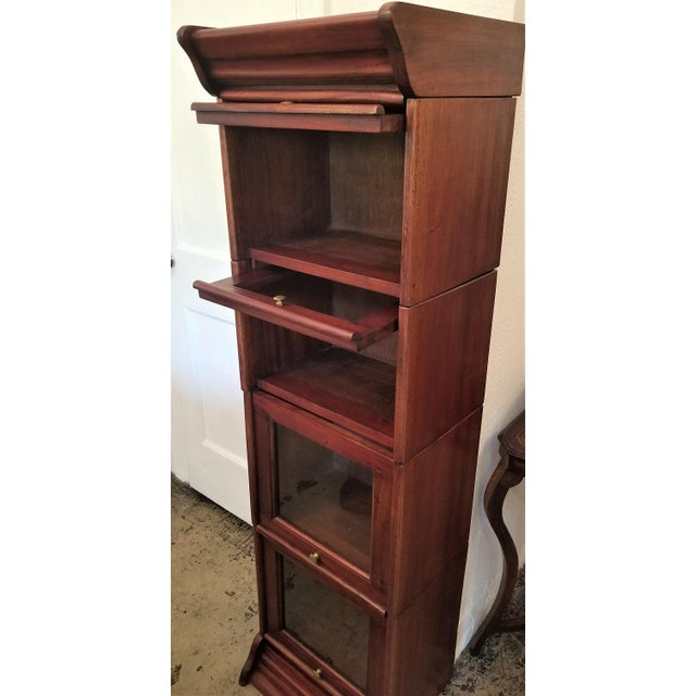 William IV Teak Barristers Bookcase of Neat Proportions For Sale - Image 4 of 8