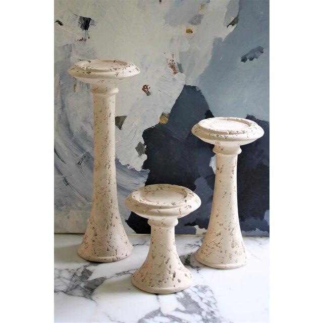 Jaru of California Set of 3 Vintage Jaru Pillar Candle Holders For Sale - Image 4 of 13
