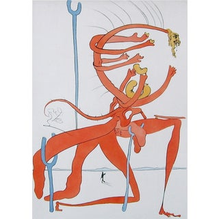 Salvador Dalí­ Figure Rouge avec Portrait de Quevedo 1975 For Sale