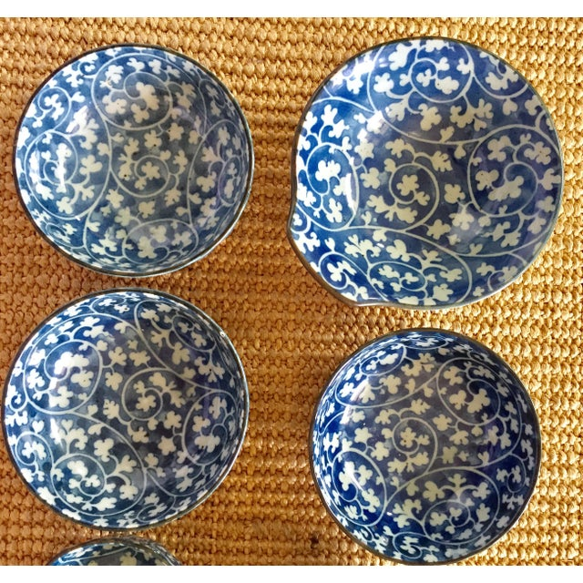 Japanese Blue & White Ceramic Bowls - Set of 10 - Image 8 of 10
