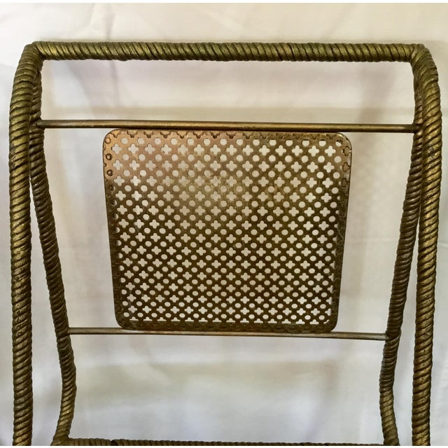 Metal Gilt Metal Chairs - Set of 6 For Sale - Image 7 of 13