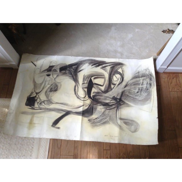 Vintage Abstract No. 1 Charcoal - Image 2 of 4