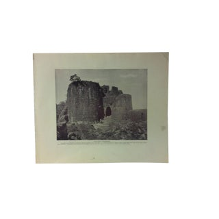 "Antique Glimpses of India Print, ""Old Fort - Purandhar"", Circa 1890 For Sale"