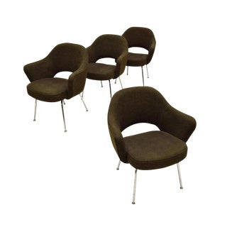 Eero Saarinen for Knoll Executive Armchairs - Set of 4 For Sale