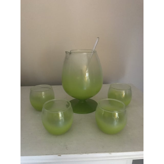 Blendo Cocktail Pitcher & Glasses - Set of 5 For Sale - Image 9 of 9