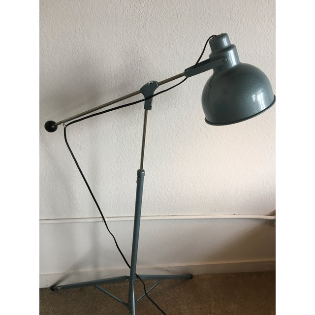 Vintage Industrial Mid Century Bretford Tripod Floor Lamp Adjustable Stage Light Fixture For Sale - Image 4 of 11
