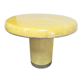Lorin Marsh Lacquered Goatskin Center Table For Sale
