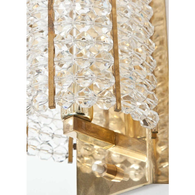 Mid 20th Century Lucite and Brass Sconces - A Pair For Sale - Image 5 of 6