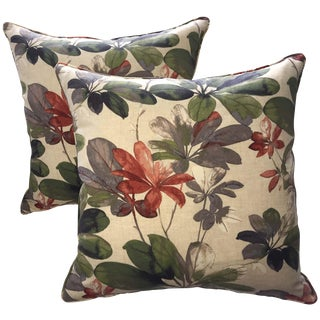 Set of Christopher Harrison Botanical Pillow Covers For Sale