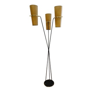 1950s Mid 20th Century Furniture French Floor Lamp From Lunel , France For Sale