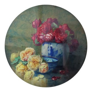 """1910s """"flowers"""" Painting By Isidore Rosenstock For Sale"""