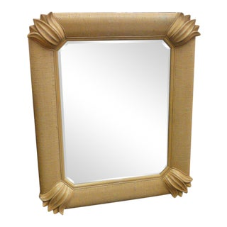 Linen Wrapped Island Style Mirror
