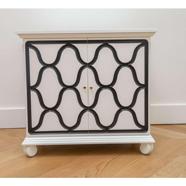 Wood Dorothy Draper Two-Door Cabinet For Sale - Image 7 of 8