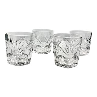 Vintage Waterford Ashling Old Fashioned Glasses DIscontinued Pattern - Set of 4 For Sale