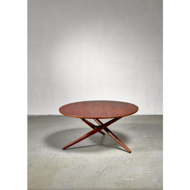 1950s Jurg Bally Height-Adjustable Ess-Tee Table for Wohnhilfe, Switzerland For Sale - Image 5 of 6