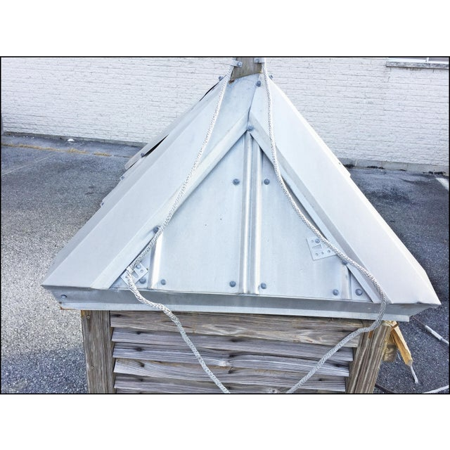 Vintage Large Wood Cupola with Aluminum Roof For Sale - Image 9 of 13