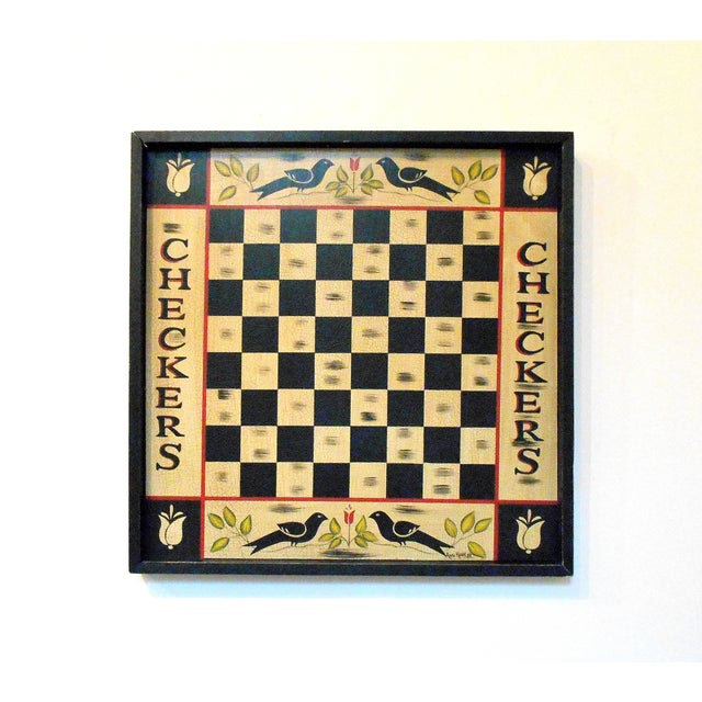Vintage Blackbird Checkerboard Wall Art - Image 2 of 6