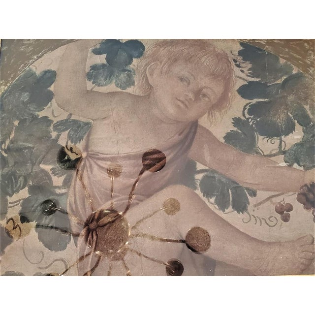 Paper Early 20th Century Medici Print of Putti Under a Vine For Sale - Image 7 of 11