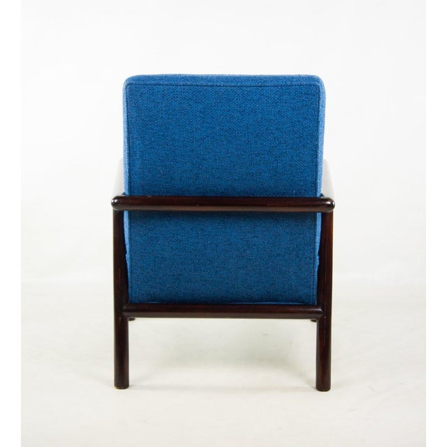 Knoll Jens Risom for Knoll Mid-Century Modern Blue Lounge Chair For Sale - Image 4 of 13