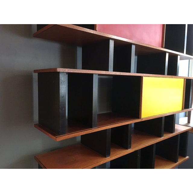 Red Charlotte Perriand and Jean Prouve Style Shelving System For Sale - Image 8 of 13