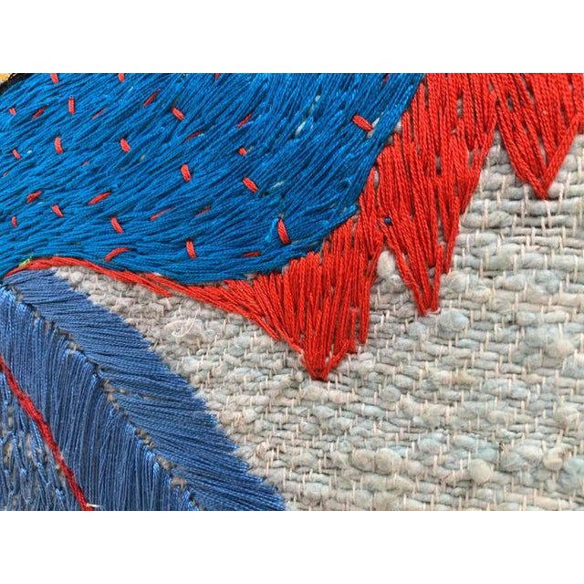 Large Embroidered Turkey Wall Hanging For Sale In New York - Image 6 of 8