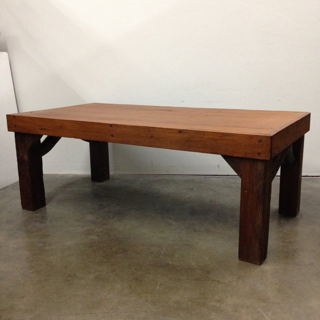 Arts & Crafts Antique Arts & Crafts Tree Branch Coffee Table For Sale - Image 3 of 10