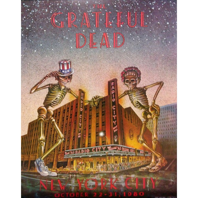 Modern The Grateful Dead Poster - New York City For Sale - Image 3 of 5