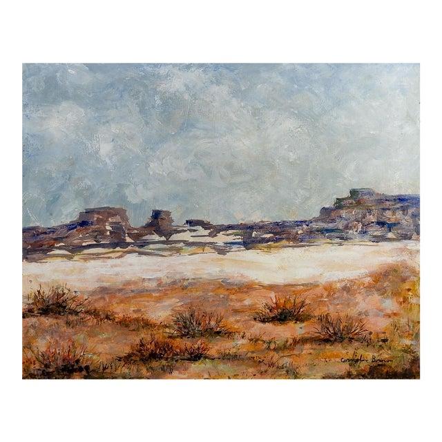 Rocky Desert Landscape Painting For Sale