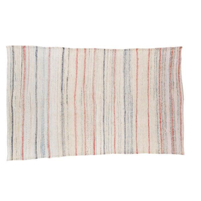 "Vintage Handwoven Rag Rug - 6'7"" x 10'10"" - Image 1 of 8"
