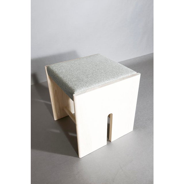 Contemporary Volk Furniture Sebastian Stool For Sale - Image 3 of 4