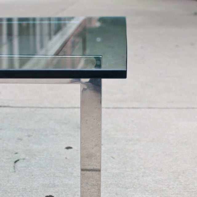 Milo Baughman Chrome & Glass Coffee Table - Image 3 of 6