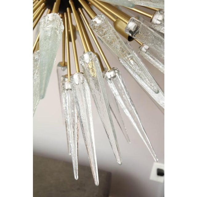Gold Stunning Murano Glass Spike Sputnik Chandelier For Sale - Image 8 of 10