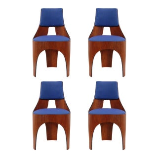 Henry Glass Cylindra Dining Chairs for Richbilt MFG - Set of 4 For Sale