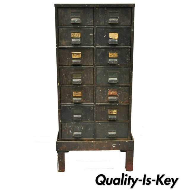 Antique Industrial Cabinet For Sale - Image 11 of 11